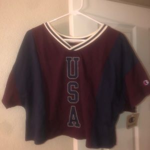 NWT Champion Cropped Tee